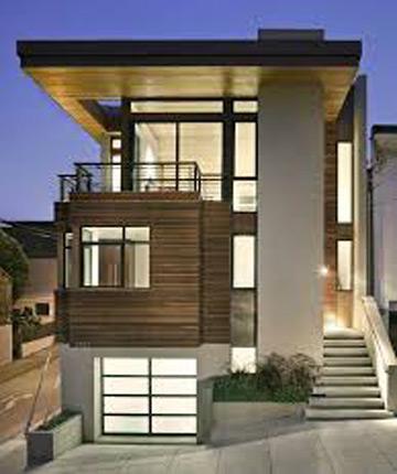 Ide Desain Rumah Minimalis 2 Lantai 6x12 Tampak Depan Model
