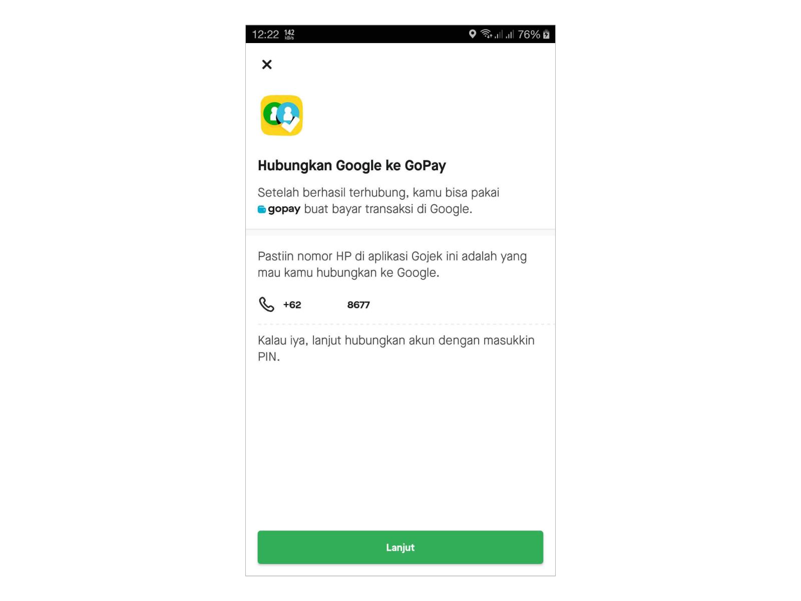Hubungkan Gopay ke Google Play
