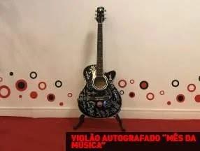 Promoção Rádio Disney Mês da Música Violão Autografado Artistas