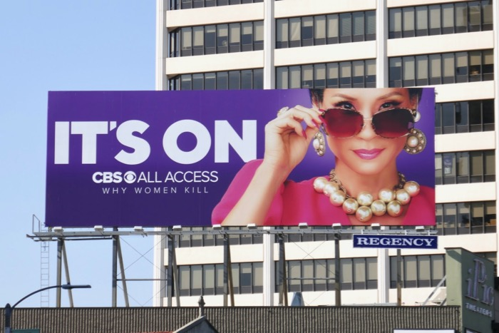 Its On Why Women Kill season 1 Lucy Liu billboard