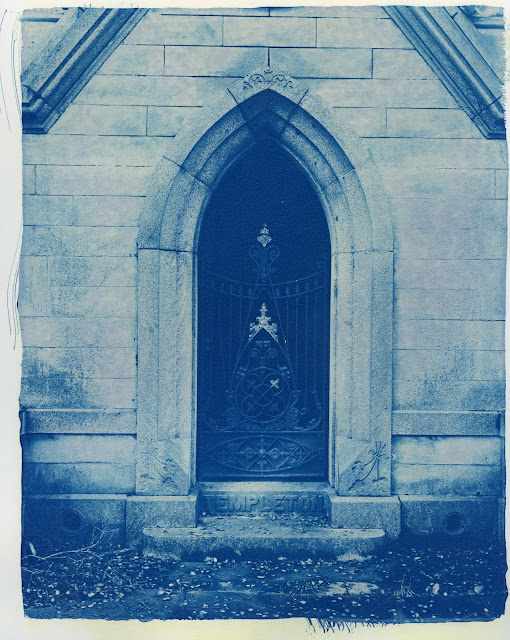 """Mountain View Cemetery, Oakland. 8x10"""" contact print of Carestream X-ray film. Paper was fine art inkjet."""