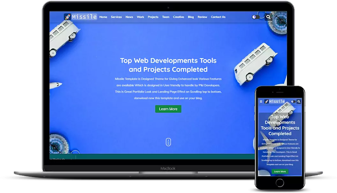 Missile - Portfolio & Responsive Blogger Template Download For Free