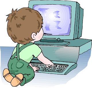 Resultado de imagem para imagem coloridas de crianças mexendo no computador