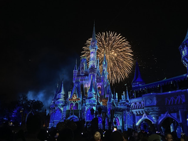 fireworks over magic kingdom castle