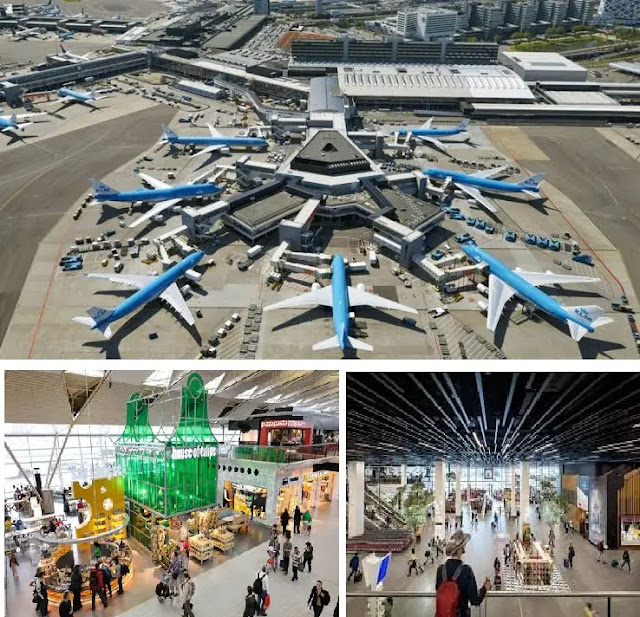 Airport Schiphol in Amsterdam