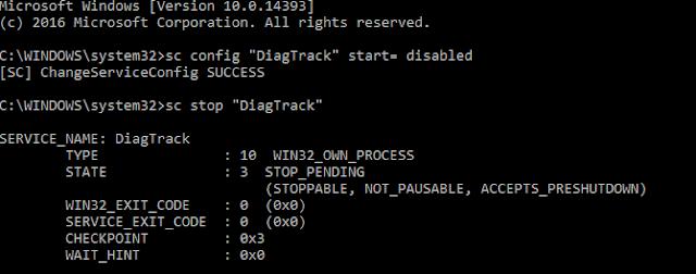 تعطيل ميزة التتبع التشخيصي Diagnostic Tracking في ويندوز 10