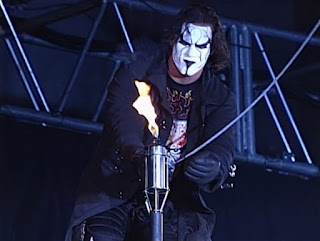 WCW - The Great American Bash 2000 - Sting lights the torch for his Human Torch match with Vampiro