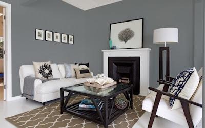 kombinasi warna cat interior rumah minimalis terbaru