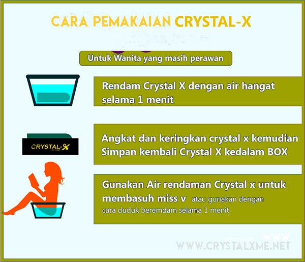 cara pemakaian crystal x untuk keputihan