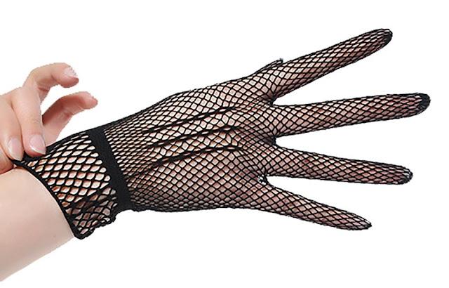 Black Fishnet Gloves at The Spot Dallas