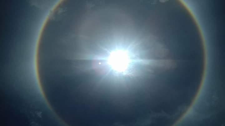 Siang Tadi, Heboh Ada Fenomena Alam Halo Matahari