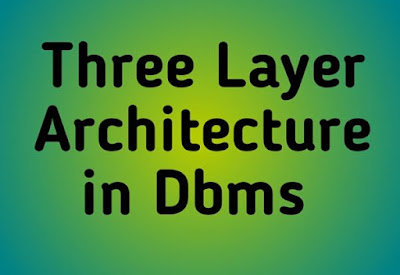 Three Layer Architecture in Dbms in Hindi