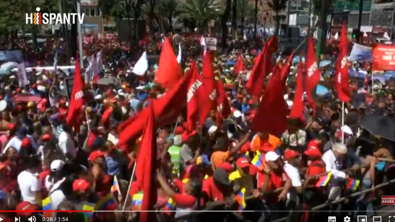 Venezolanos salen a las calles para marchar contra el imperialismo
