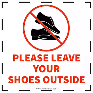 please remove your shoes sign images