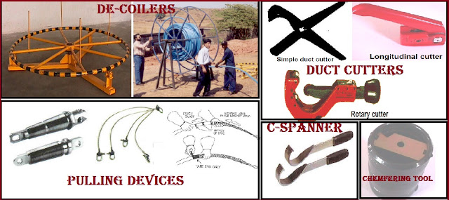 Duct tools used during duct installation