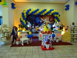 Decoração festa aniversário da Bela e a Fera