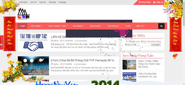[ HTML/BLOGER ] Trang Trí Tết Cho Blogger/Website Đẹp 2018