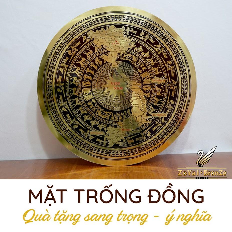 [A117] Mặt trống đồng chạm tay thủ công uy tín, chất lượng tại Hà Nội