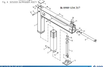 Chân của cẩu Soosan 3 tấn SCS323-SCS314-SCS324-SCS333-SCS334-SCS335