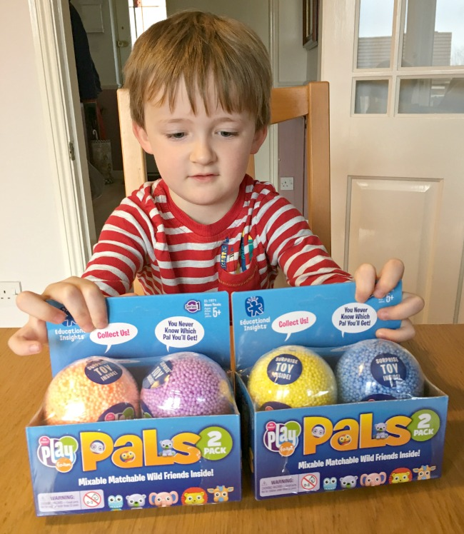 Playfoam-pals-review-boy-with-toy-boxes