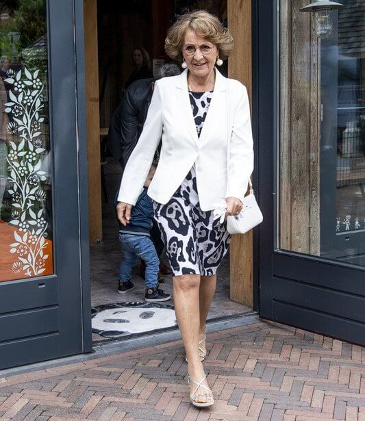 Princess Margriet attended the celebration of the 5th anniversary of the Onky Donky House of the Onky Donky Foundation in Rhenen