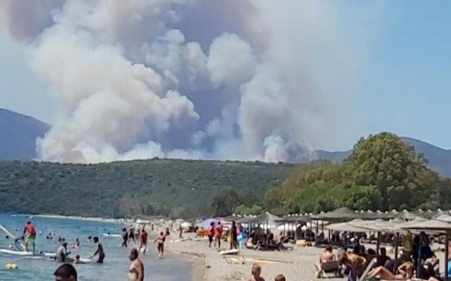 Λακωνία: Με δύο μέτωπα η πυρκαγιά  στην Ανατολική Μάνη
