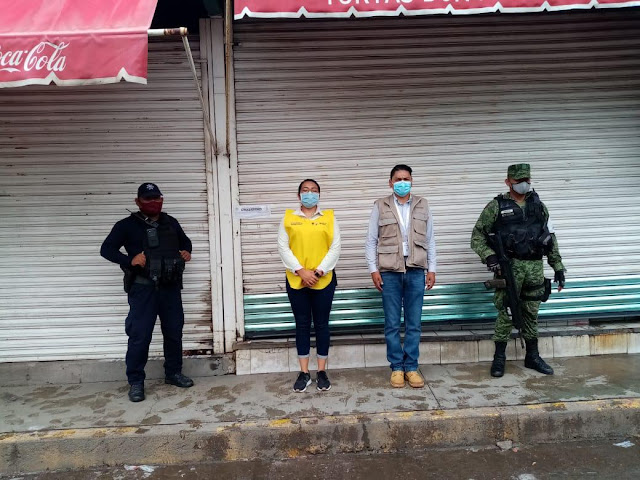 Suspenden 9 establecimientos en Apatzingán durante operativo sanitario