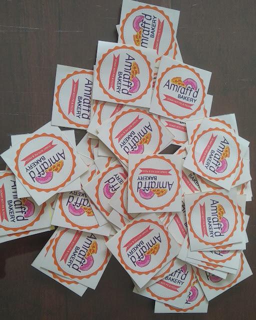 Stiker Label Donat Dan Pizza