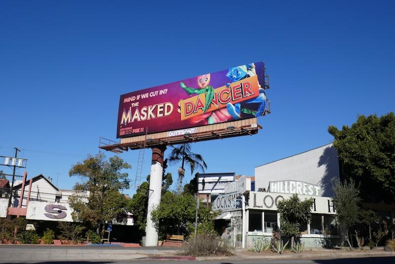 Masked Dancer TV series billboard