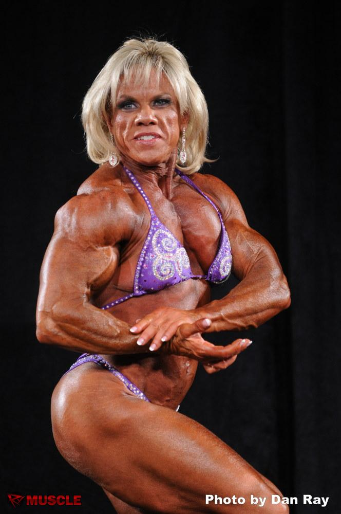 Female Bodybuilder Kate Cooper - 2012 IFBB North American Bodybuilding Championships - 7th Place Heavyweight and 4th Place 35+ Masters Heavyweight