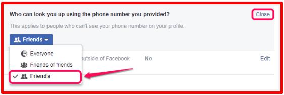 Make Facebook Profile Private