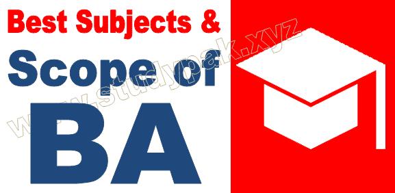 BA scope and important best subjects punjab university 2021