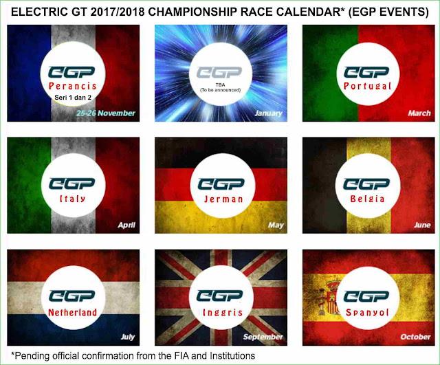 jadwal balapan mobil listrik EGT ajang balap mobil listrik