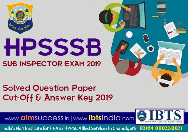 HPSSSB Sub Inspector Solved Question Paper & Answer Key 2019 (Download PDF)
