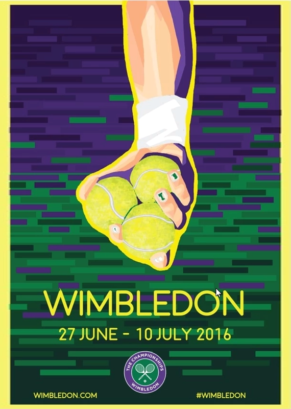 inspiration graphic design sports posters, tennis, Wimbledon