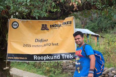 At Didina - Roopkund Trek