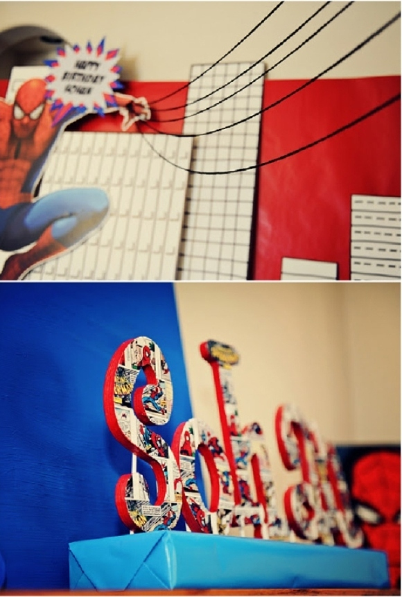 Boys Party Ideas: A Spiderman Inspired Super Hero Birthday  - via BrdsParty.com