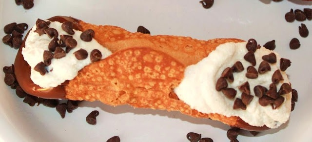 this is a photo of an Italian pastry called cannoli