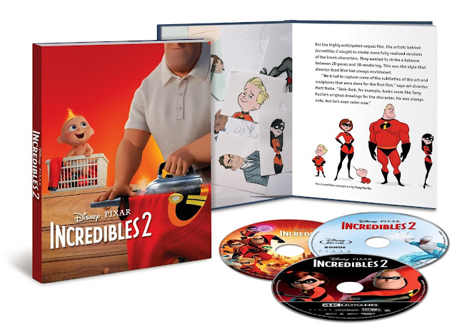 Incredibles 2 4K Blu-ray Target Storybook and Filmmaker Edition