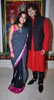 Vivek Oberoi With His Wife Priyanka on Diwali Celebration