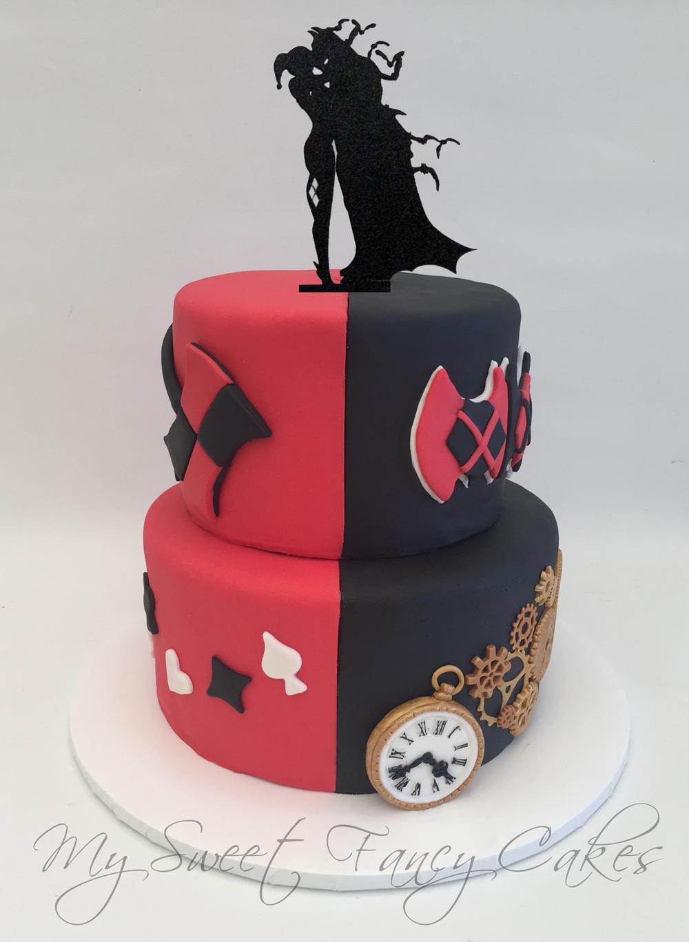 My Sweet Fancy Cakes Batman Harley Quinn Steampunk Wedding Cake
