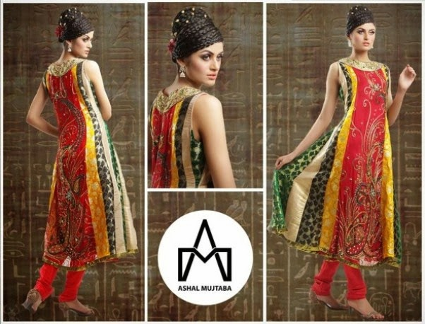 Spring Dresses 2014 For Girls By Ashal Mujtaba