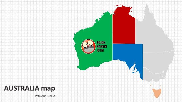 Australia map silde PPT