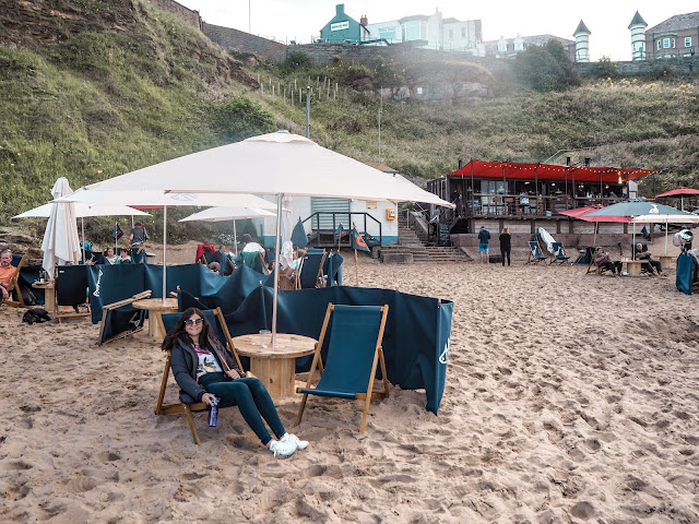 Riley's Fish Shack, Tynemouth: deckchair set up