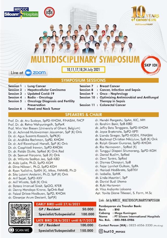 "(SKP IDI) Webinar Series  ""Multidisciplinary Team Care Management"" 10 yeasr of Cancer Care"