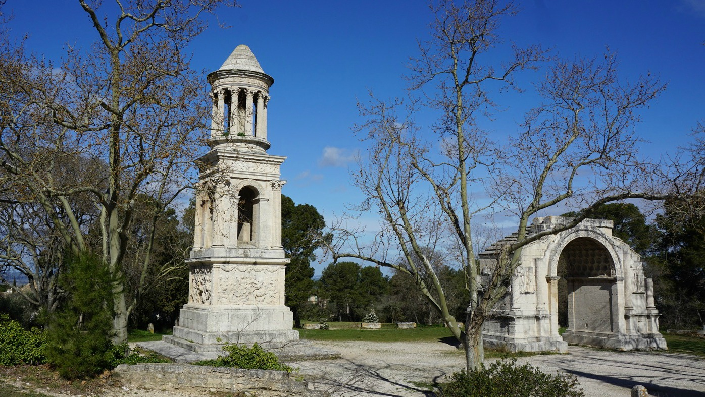 Roman monuments in Glanum Bouches du Rhone