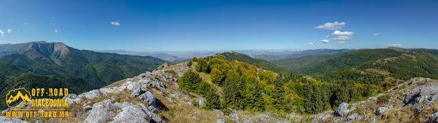 """Panoramic view from """"Sokol"""" Peak towards Mariovo region"""