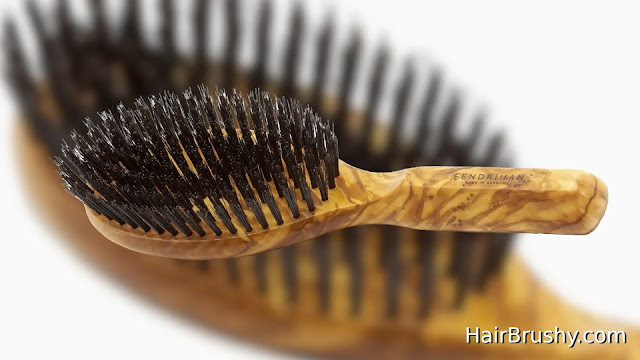 Fendrihan Men's Oval Hairbrush Pure Bristle with Real Olivewood