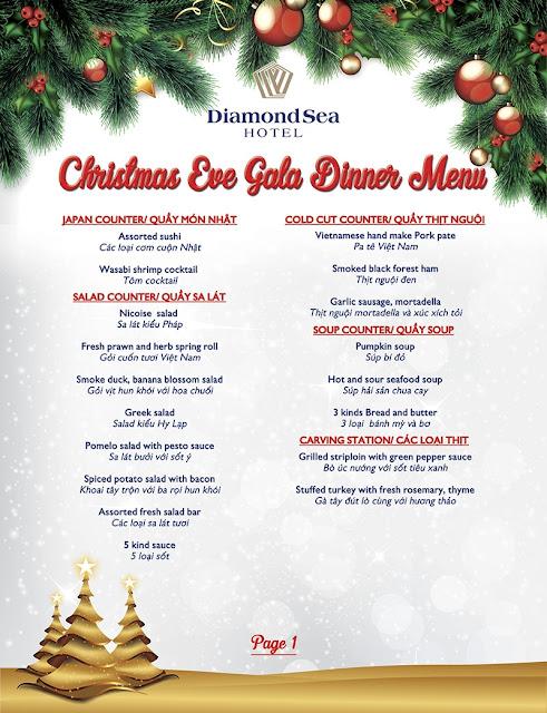 Diamond Sea Hotel – Dạ tiệc đón Giáng sinh 2016