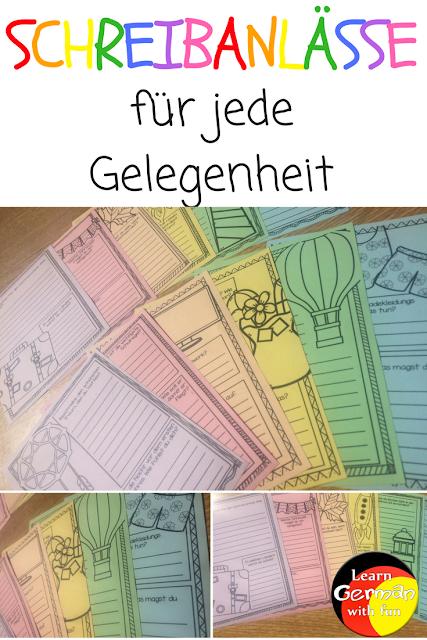Eine bunte Auswahl für die Grundschule mit verschiedenen Schreibanlässen